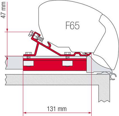 """Billede af Monteringskit til """"Fiamma Fixing Bar"""" F80 & F65s"""