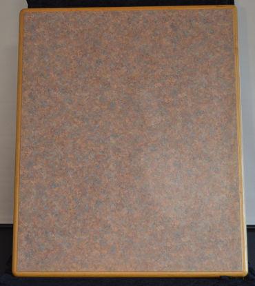 Billede af Bordplade - Brunmeleret 74 x 91 cm. (Brugt)