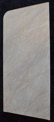 Billede af Køkken Bordplade - Marmorfarvet - 23 x 48 cm. (Brugt)