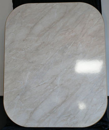 Billede af Bordplade - Marmorfarvet 78 x 96 cm. (Brugt)