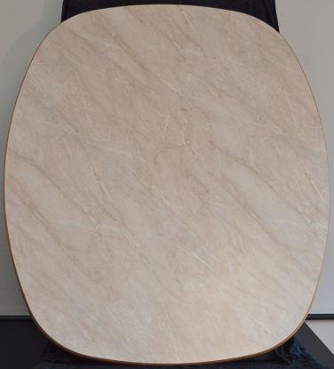 Billede af Bordplade - Marmorfarvet 98 x 113 cm (Brugt)
