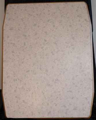 Billede af Bordplade - Lys grå meleret 90 x 70 cm. (Brugt)