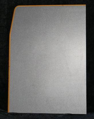 Billede af Bordplade - mørk grå - 70 x 50 cm. (Brugt)