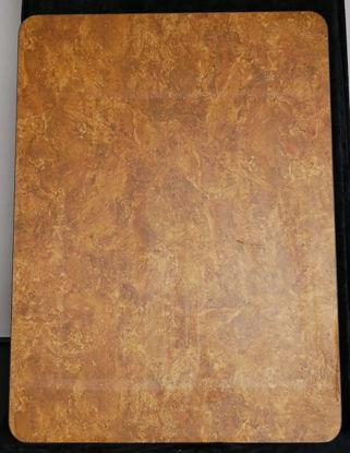 Billede af Bordplade - brun meleret - 66 x 90 cm. (Brugt)