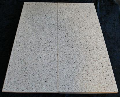 Billede af Køkken Bordplade - sandfarvet, meleret - 48 x 58 cm. (Brugt)