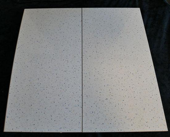 Billede af Køkken Bordplade - lys sand, meleret - 24 x 49,5 cm. (Brugt)