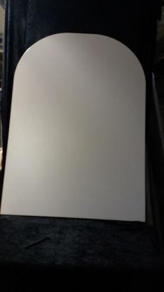 Billede af Bordplade - Hvid med nister 73,5 x 104 cm. (Brugt)