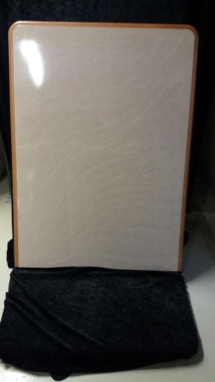 Billede af Bordplade - sandfarvet marmor. 69 x 96 cm. (Brugt)