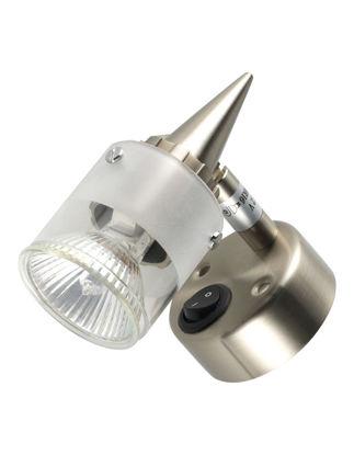 """Billede af Spotlampe med afbryder """"Orion"""" Halogen 12V 10W Matkrom"""