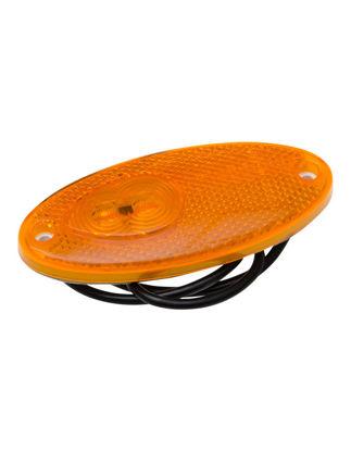 Billede af Sidelygte gul  oval  LED