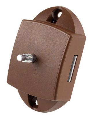 Billede af Lås til toiletdør - 3-punkt / Brun