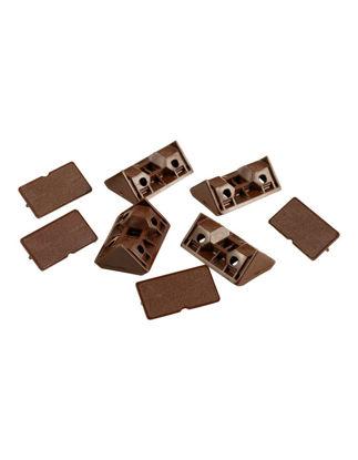 Billede af Møbelbeslag brunt 4 stk.